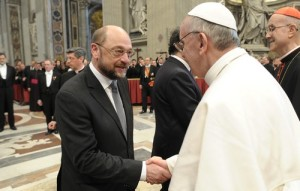 Martin SCHULZ - EP President, Pope Francis